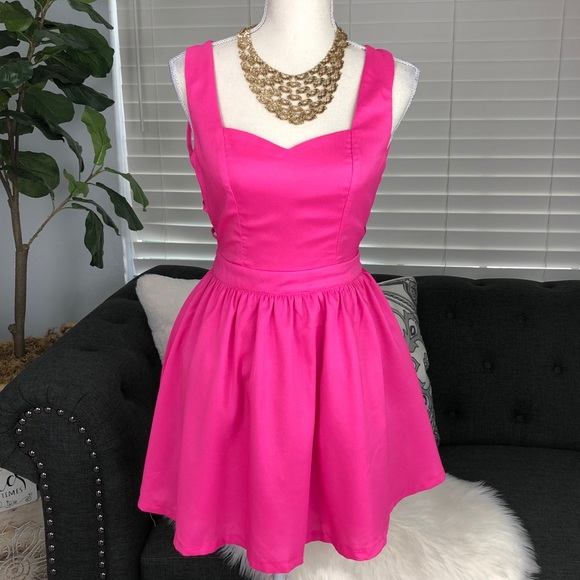 Tea n Cup Dresses & Skirts - ADORABLE BUBBLE GUM PINK DRESS multi strap back